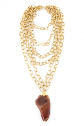 Aypen Accessories - Agate Beads Chains Kolye