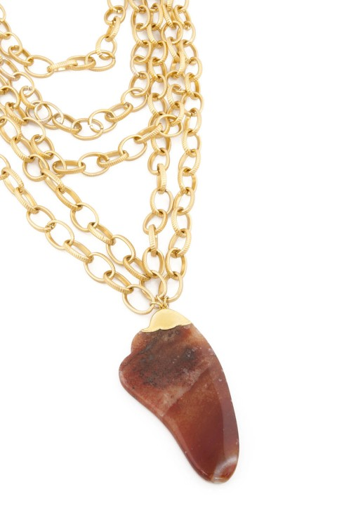 Aypen Accessories Agate Beads Chains Kolye