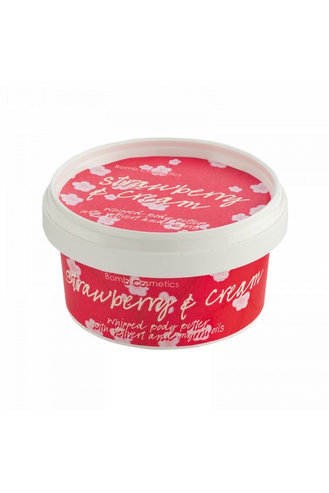 Bomb Cosmetics Strawberry & Cream Body Butter 210ml