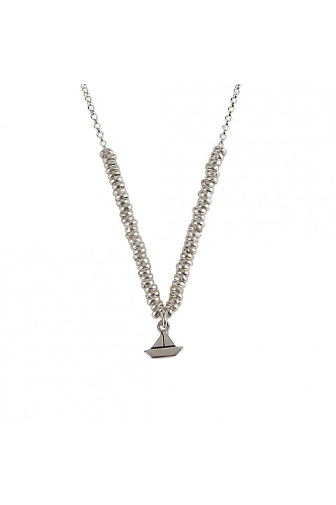 Mo For Every Moment Glossy Boat Necklace Kolye