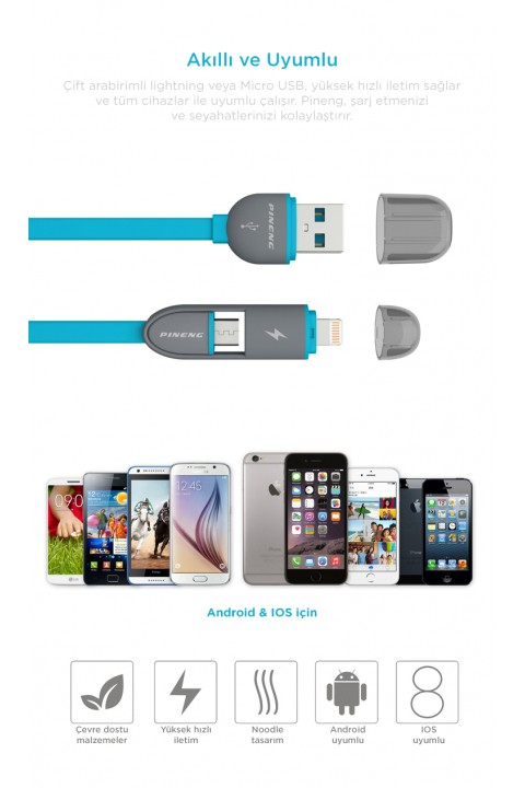Pineng Pn-301 2 İn 1 Iphone Ve Usb