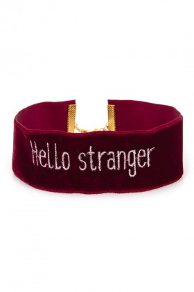 Fineapple - Burgundy Hello Stranger Choker