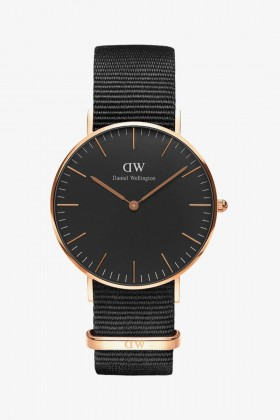 Daniel Wellington - Daniel Wellington Women Classic Black Cornwall Rose Gold 36Mm