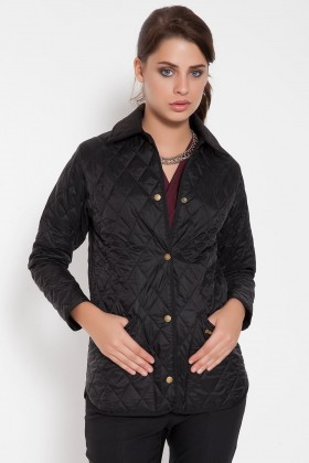 Barbour - Ladies Liddesdale Barbour Siyah Mont