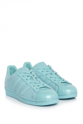 Adidas - Superstar Glossy Toe Mint Sneakers