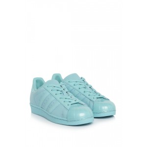 Superstar Glossy Toe Mint Sneakers