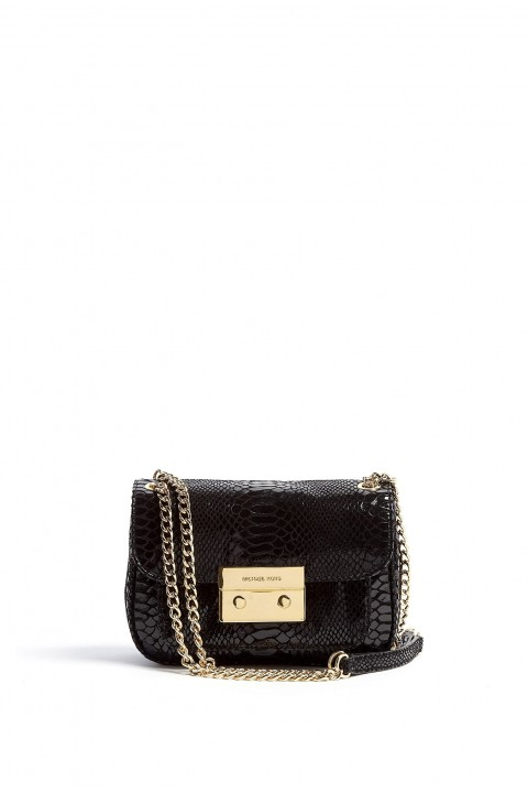 Michael Kors Çanta 30H5GCCL2G Phyton Leather Black