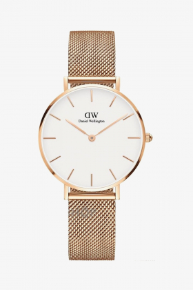 Daniel Wellington - Daniel Wellington Women Classic Petite Melrose Rose Gold & White - 32Mm