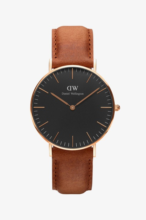 Daniel Wellington Daniel Wellington Women Classic Black Durham Rose Gold 36Mm