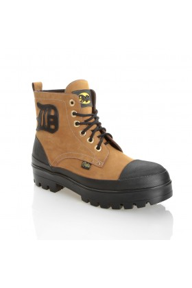 Buffalo - 6338-1 Prınted Nubuck Buffalo Men - YELLOW
