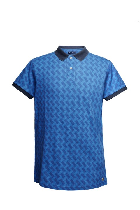 Port Royale Zigzag Desenli Polo Shirt