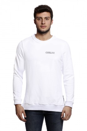 Tou Clothing - Chillax Beyaz Sweatshirt