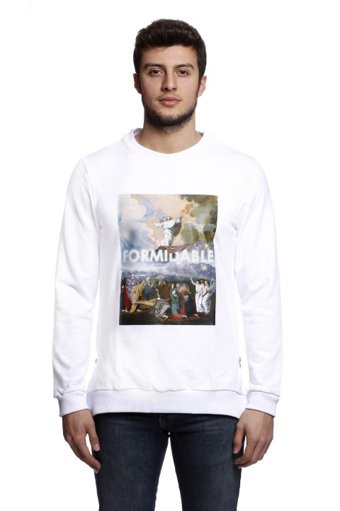 Tou Clothing Formidable Beyaz Sweatshirt