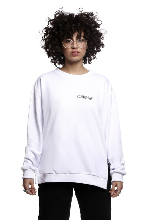Tou Clothing Chillax Beyaz Sweatshirt