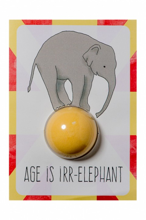 Bomb Cosmetics Age is Irr-Elephant Blaster Card