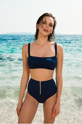 Anais Margaux Paris - Valentine High Waist Navy Blue Bikini