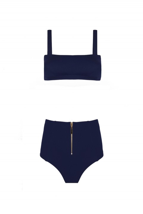 Anais Margaux Paris Valentine High Waist Navy Blue Bikini