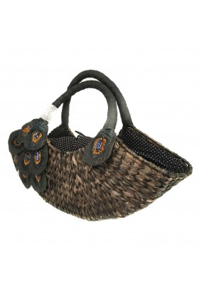 Larone by Bengartisans - Peacock Seagrass Purse