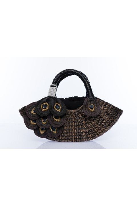 Larone by Bengartisans Peacock Seagrass Purse