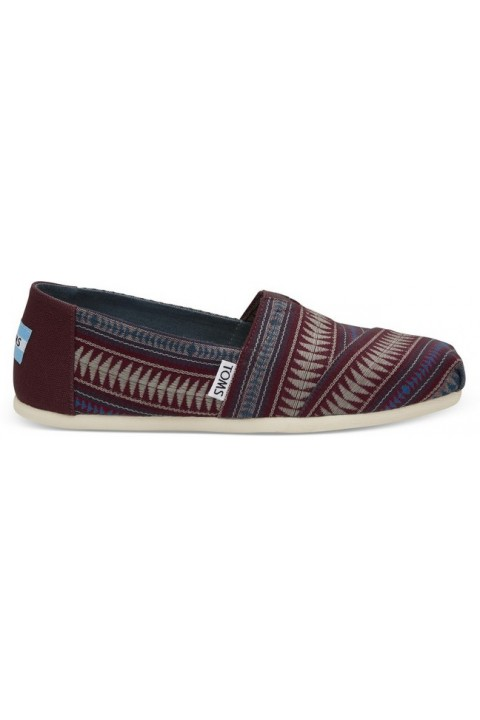 Toms Pomegranate Tribal Woven Women Alpargata