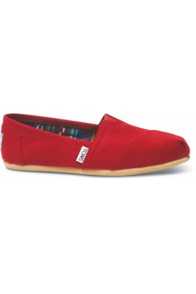Toms - Red Canvas Women Classic Alpargata