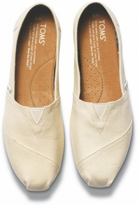 Toms Natural Canvas Women Classic Alpargata