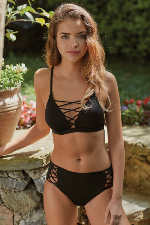 Simi Lace-Up Bikini Ustu