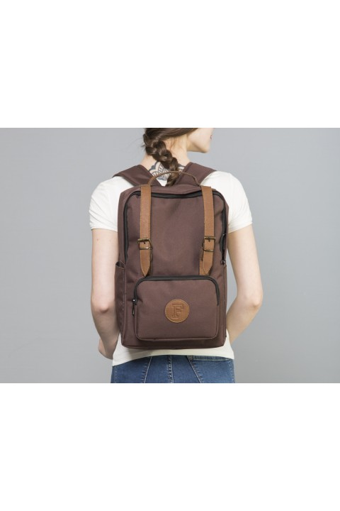 Fudela & Co BKS Brown Backpack