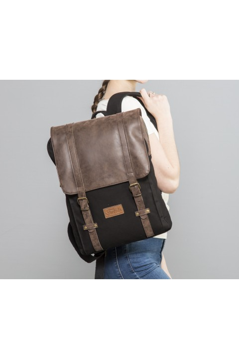 Fudela & Co NYP Black Backpack
