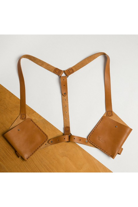Tox Leather Kahverengi Harness