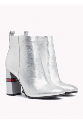 Tommy Hilfiger - CRACKLED METALLIC HEELED BOOT