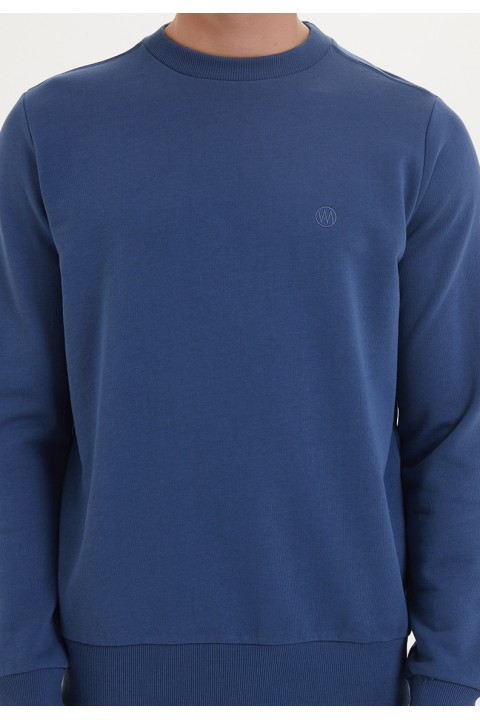 Westmark London Essentials Sweat in Dark Denim Lacivert Sweatshirt