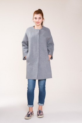 GIZIA - Grey Stamp Coat