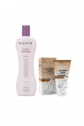 Biosilk - Biosilk Color Therapy Şampuan 355 ml+Redist Lightening Cilt Beyazlatıcı Krem 75 ml