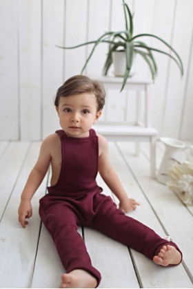 Tiny Little Love - Burgundy Salopet
