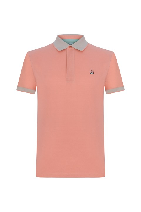 Peralina Denny Dad- Somon Polo Yaka T-shirt