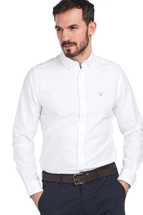 Barbour Barbour Oxford 3 Tailored Fit Shirt White
