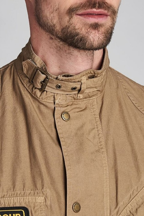 Barbour International B.Intl Coloured A7 Casual Jacket  Stone