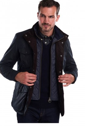 Barbour - Barbour Ogston Wax Jacket  Navy