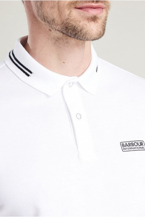 Barbour International B.Intl Essential Tipped Polo Shirt  White