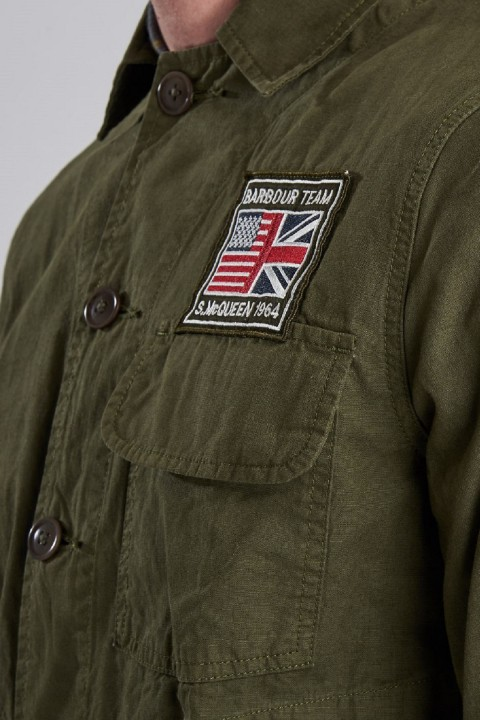 Barbour International B.Intl Race Overshirt  Military