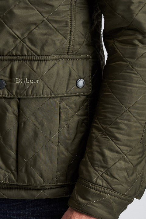Barbour International B.Intl Ariel Polarquilt Jacket  Olive