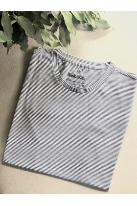 Basic & Co. - Mavi Beyaz Breton Leıla T-Shirt