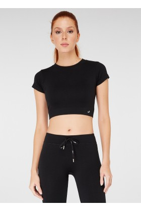 Jerf - Jerf Captiva Crop Top Siyah