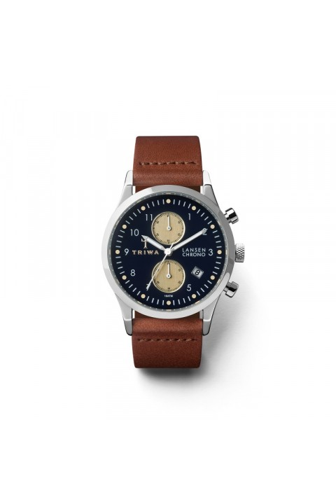 Triwa TRIWA Lansen Chrono Dark Blue-Brown