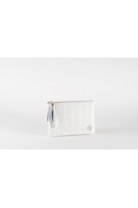 A & A Clutches Etc. - Pera Maxi White Çanta