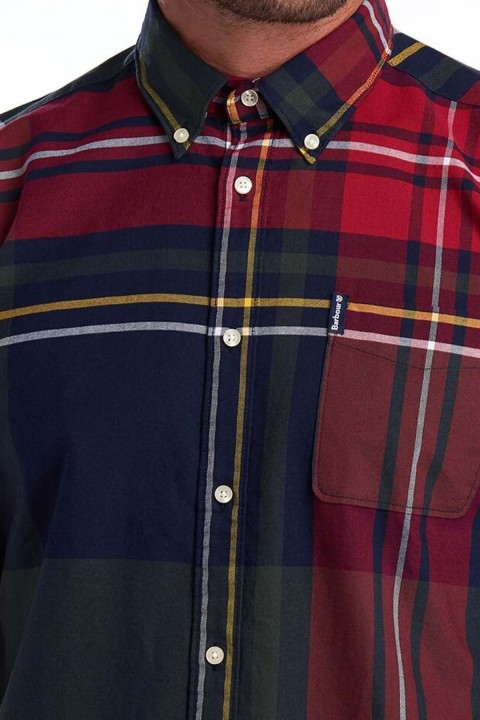 Barbour Barbour Highland Check 23 Tailored Gömlek NY91 Navy