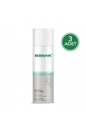 Bebak - Bebak Kuru Şampuan 200 Ml Biotin And Collagen 3 Adet