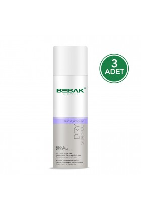 Bebak - Bebak Kuru Şampuan 200 Ml Silk And Keratin 3 Adet