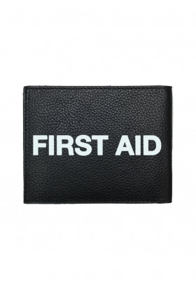 For Fun - First Aid Leather Wallet Siyah